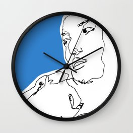 line drawing-Faces Wall Clock