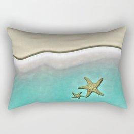 SANDY BEACH & STARFISH Rectangular Pillow