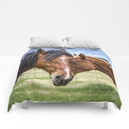 Mother and son Comforters