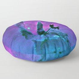 Nebula Purple Blue Pink Floor Pillow