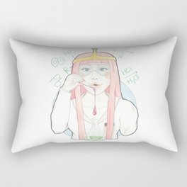 Princess Bubblegum // Watercolor and Pencil Illustration Rectangular Pillow