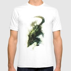Spirit Of The Wolf MEDIUM Mens Fitted Tee White
