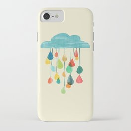 cloudy with a chance of rainbow iPhone Case