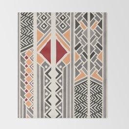 Tribal ethnic geometric pattern 034 Throw Blanket