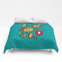 Scribbles 01 in Color Comforters