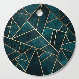 Deep Teal Stone Cutting Board