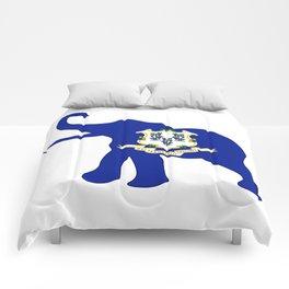 Connecticut Republican Elephant Flag Comforters
