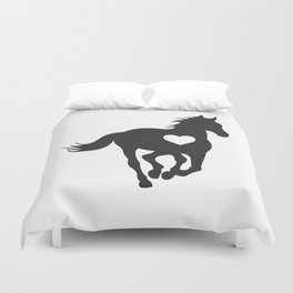 horse horse horse love animal love gift rider equestrian sport Duvet Cover