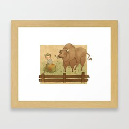 The frog and the ox Framed Art Print