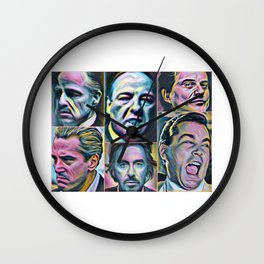 Gangsters painting movie Goodfellas Godfather Casino Scarface Sopranos Wall Clock
