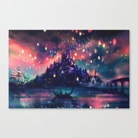 a lot of cats Canvas Prints featuring The Lights by Alice X. Zhang