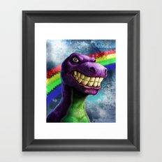 Barney the dinosaur Framed Art Print