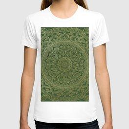 Mandala Royal - Green and Gold T-shirt