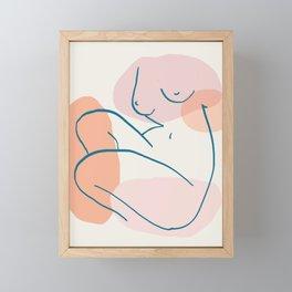 Abstraction_FIGURE_ART_001 Framed Mini Art Print