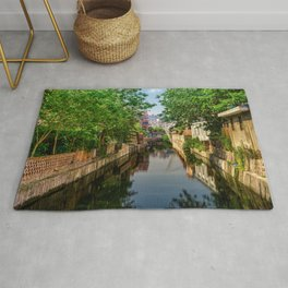 Small neighborhood, city view, city river, city canal (Nantong, China) (2015-5N-SN) Rug