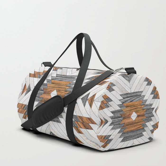 Urban Tribal Pattern No.8 - Aztec - Wood Duffle Bag