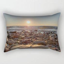 Majestic Beach Sunset Rectangular Pillow