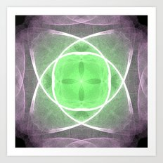 Lilac and Green Art Print