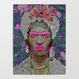 """Frida"" Illustration Poster"
