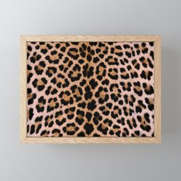 Cheetah Pattern Framed Mini Art Print