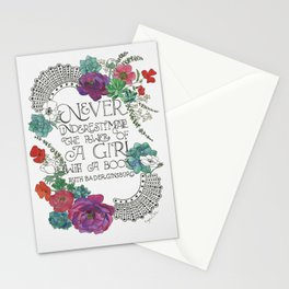 Girl With A Book Stationery Cards