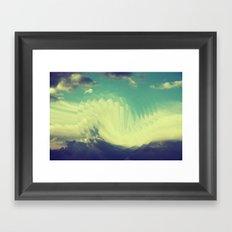 Circular sky Framed Art Print