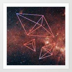 Space Diamonds Art Print