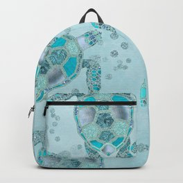 Glamour Aqua Turquoise Turtle Underwater Scenery Backpack