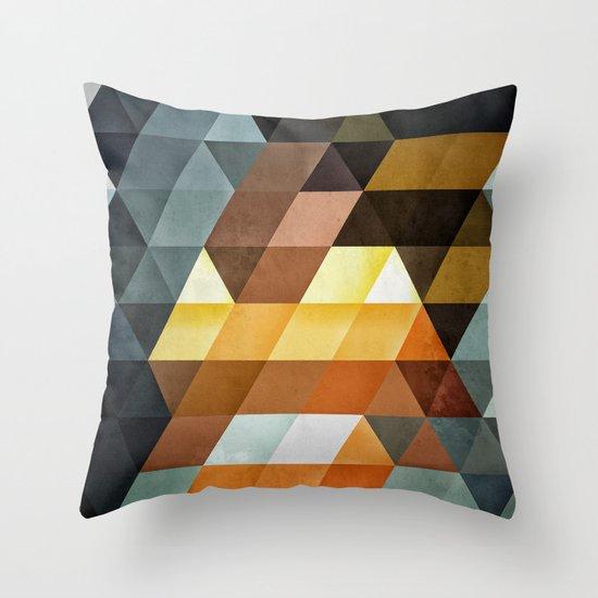 gyld^pyrymyd Throw Pillow