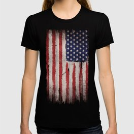 Wood American flag T-shirt