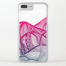 Lines in the mountains 05 Clear iPhone Case