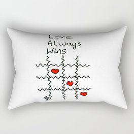 Love always wins Rectangular Pillow