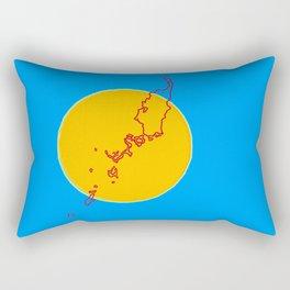 Palau Flag with Palauan Map Rectangular Pillow