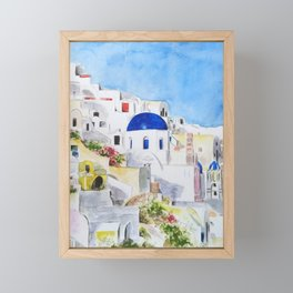 Greece Aegean Sea Santoroni arts Framed Mini Art Print