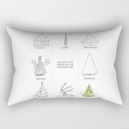 Architecture History of the Christmas Tree Rectangular Pillow