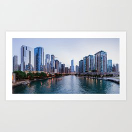 Chicago River Art Print