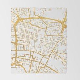 GLASGOW SCOTLAND CITY STREET MAP ART Throw Blanket