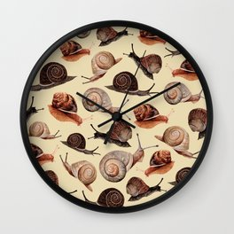 A Slew Of Snails Wall Clock