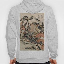 Hokusai, Aspara and the flute – musician manga, japan,hokusai,japanese,北斎,ミュージシャン Hoody