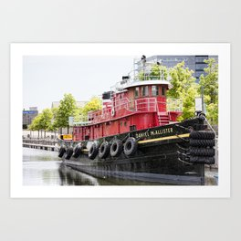 Old Boat in Montreal Art Print