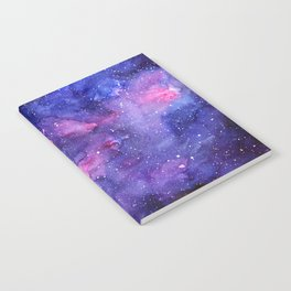 Galaxy Pattern Watercolor Notebook
