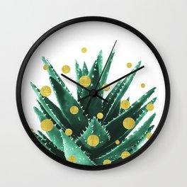 Christmas Succulent Wall Clock