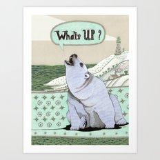 What's Up Bear Art Print