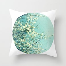 Blossom circle Throw Pillow