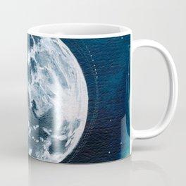 Full Moon Mixed Media Painting Coffee Mug