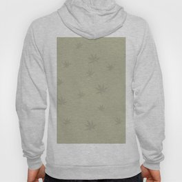 Drawing of marijuana leaves on neutral background Hoody