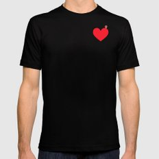 YOU ARE HERE Black X-LARGE Mens Fitted Tee