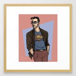 Hipster Supes Framed Art Print