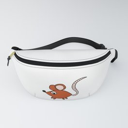 Drawn by hand a Friendly little mouse for children and adults Fanny Pack
