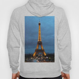 Stormy Nights, Parisian Lights - Eiffel Tower in Paris, France Hoody